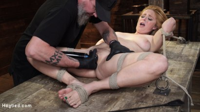 Photo number 19 from Penny Pax: Blue-Eyed Redhead Damsel Tormented in Strict Bondage shot for Hogtied on Kink.com. Featuring Penny Pax in hardcore BDSM & Fetish porn.