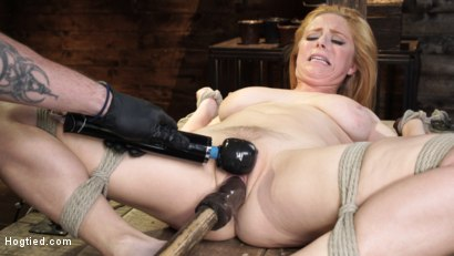 Photo number 22 from Penny Pax: Blue-Eyed Redhead Damsel Tormented in Strict Bondage shot for Hogtied on Kink.com. Featuring Penny Pax in hardcore BDSM & Fetish porn.
