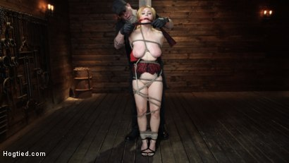 Photo number 3 from Penny Pax: Blue-Eyed Redhead Damsel Tormented in Strict Bondage shot for Hogtied on Kink.com. Featuring Penny Pax in hardcore BDSM & Fetish porn.