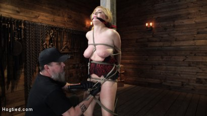 Photo number 6 from Penny Pax: Blue-Eyed Redhead Damsel Tormented in Strict Bondage shot for Hogtied on Kink.com. Featuring Penny Pax in hardcore BDSM & Fetish porn.