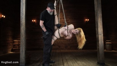 Photo number 7 from Penny Pax: Blue-Eyed Redhead Damsel Tormented in Strict Bondage shot for Hogtied on Kink.com. Featuring Penny Pax in hardcore BDSM & Fetish porn.