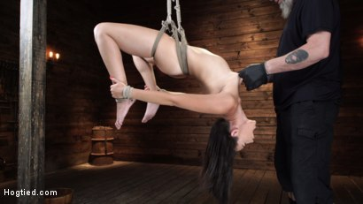 Photo number 12 from Avi Love: Young, Sexy Rope Slut Tormented and Made to Cum in Bondage shot for Hogtied on Kink.com. Featuring Avi Love in hardcore BDSM & Fetish porn.