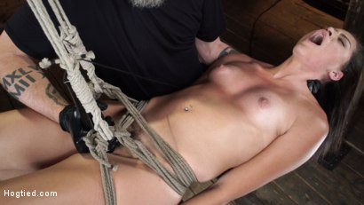 Photo number 17 from Avi Love: Young, Sexy Rope Slut Tormented and Made to Cum in Bondage shot for Hogtied on Kink.com. Featuring Avi Love in hardcore BDSM & Fetish porn.