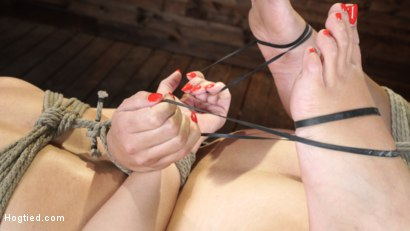 Photo number 5 from Avi Love: Young, Sexy Rope Slut Tormented and Made to Cum in Bondage shot for Hogtied on Kink.com. Featuring Avi Love in hardcore BDSM & Fetish porn.