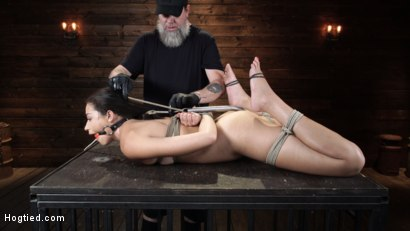 Photo number 7 from Avi Love: Young, Sexy Rope Slut Tormented and Made to Cum in Bondage shot for Hogtied on Kink.com. Featuring Avi Love in hardcore BDSM & Fetish porn.