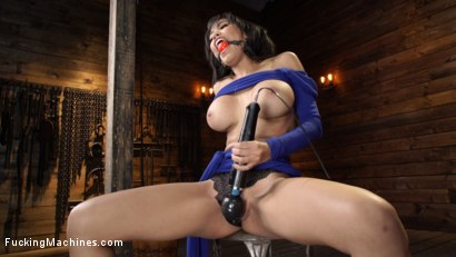Photo number 3 from Gia Milana: Big Titted Beauty In Bondage Getting Machine Fucked shot for Fucking Machines on Kink.com. Featuring Gia Milana in hardcore BDSM & Fetish porn.