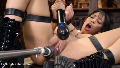 Gia Milana: Big Titted Beauty In Bondage Getting Machine Fucked