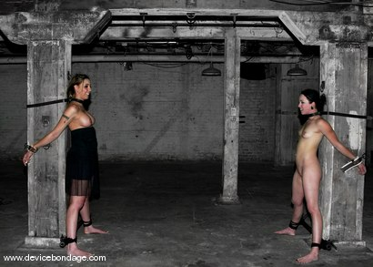 Photo number 4 from Alexa Von Tess Live, Part 2 shot for Device Bondage on Kink.com. Featuring Alexa Von Tess and Delilah Strong in hardcore BDSM & Fetish porn.