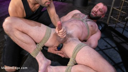 Donnie Argento Tied Up and Edged in Rope Bondage
