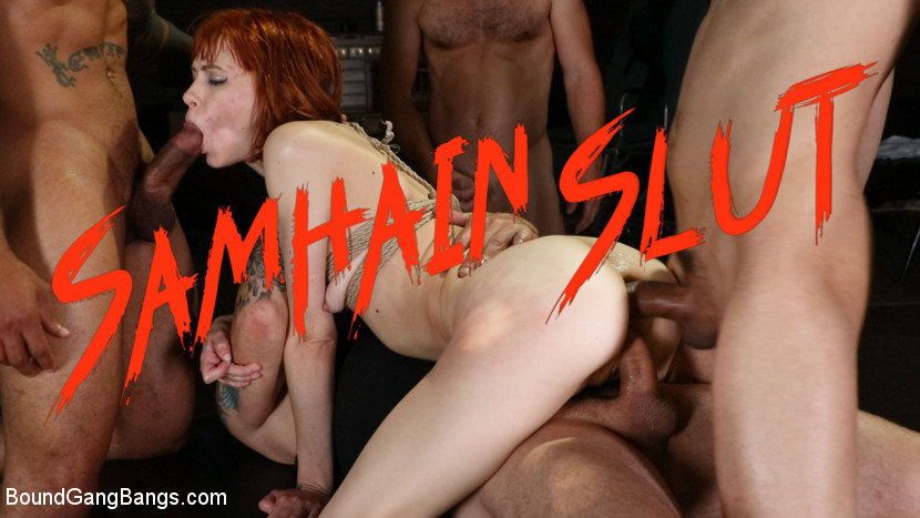 BoundGangBangs.com - Samhain Slut: Alexa Nova gets double stuffed on Halloween