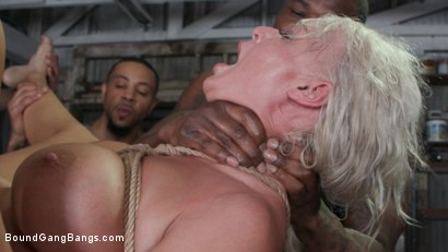 Photo number 23 from London's Stripper Fantasy GangBang: London Stuffed Airtight After Work shot for Bound Gang Bangs on Kink.com. Featuring London River, Ramon Nomar, Donny Sins, Rob Piper, Robby Echo and Eddie Jaye in hardcore BDSM & Fetish porn.