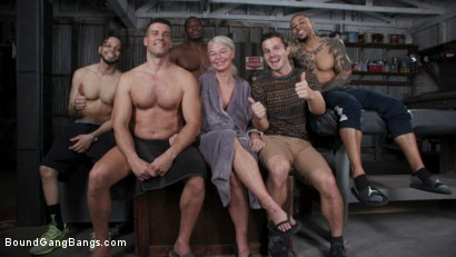 Photo number 26 from London's Stripper Fantasy GangBang: London Stuffed Airtight After Work shot for Bound Gang Bangs on Kink.com. Featuring London River, Ramon Nomar, Donny Sins, Rob Piper, Robby Echo and Eddie Jaye in hardcore BDSM & Fetish porn.