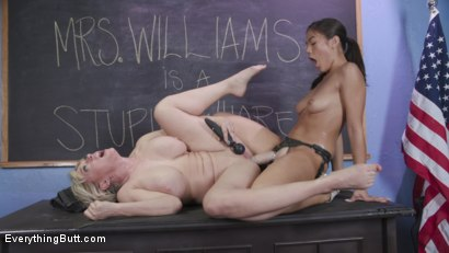 Photo number 10 from Teacher's Pet: Kendra Spade Takes Revenge on Teacher Dee Williams shot for Everything Butt on Kink.com. Featuring Kendra Spade and Dee Williams in hardcore BDSM & Fetish porn.