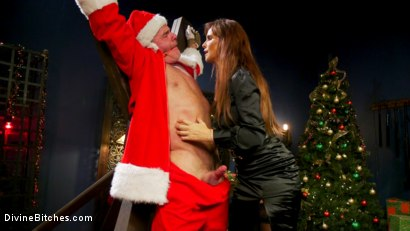 Photo number 2 from Santa Gets Got: MILF Syren de Mer Catches Dale Savage in Her Dungeon shot for Divine Bitches on Kink.com. Featuring Syren de Mer and Dale Savage in hardcore BDSM & Fetish porn.