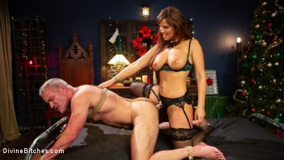 Santa Gets Got: MILF Syren de Mer Catches Dale Savage in Her Dungeon