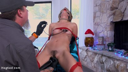 Photo number 14 from Deviant Delivery: Kristen Scott Gets Holiday Torment at Home shot for Hogtied on Kink.com. Featuring Kristen Scott in hardcore BDSM & Fetish porn.