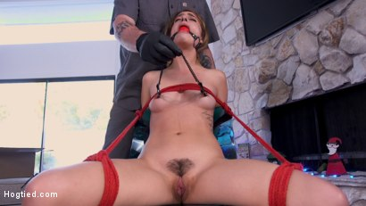 Photo number 8 from Deviant Delivery: Kristen Scott Gets Holiday Torment at Home shot for Hogtied on Kink.com. Featuring Kristen Scott in hardcore BDSM & Fetish porn.
