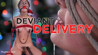 Deviant Delivery: Kristen Scott Gets Holiday Torment at Home