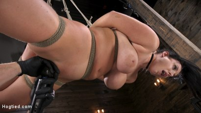 Photo number 16 from Angela White: Complete Submission to The Pope shot for Hogtied on Kink.com. Featuring Angela White in hardcore BDSM & Fetish porn.