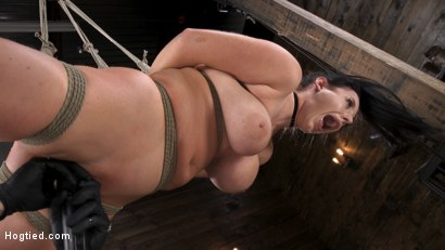 Photo number 17 from Angela White: Complete Submission to The Pope shot for Hogtied on Kink.com. Featuring Angela White in hardcore BDSM & Fetish porn.