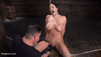 Photo number 26 from Angela White: Complete Submission to The Pope shot for Hogtied on Kink.com. Featuring Angela White in hardcore BDSM & Fetish porn.