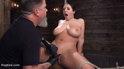 Photo number 27 from Angela White: Complete Submission to The Pope shot for Hogtied on Kink.com. Featuring Angela White in hardcore BDSM & Fetish porn.