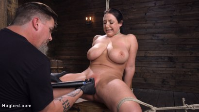 Photo number 28 from Angela White: Complete Submission to The Pope shot for Hogtied on Kink.com. Featuring Angela White in hardcore BDSM & Fetish porn.