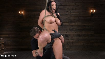 Photo number 5 from Angela White: Complete Submission to The Pope shot for Hogtied on Kink.com. Featuring Angela White in hardcore BDSM & Fetish porn.