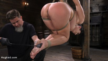 Photo number 9 from Angela White: Complete Submission to The Pope shot for Hogtied on Kink.com. Featuring Angela White in hardcore BDSM & Fetish porn.