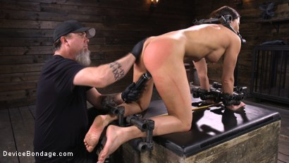 Photo number 16 from Ariel X: Body Builder Double Penetrated in Diabolical Devices shot for Device Bondage on Kink.com. Featuring Ariel X in hardcore BDSM & Fetish porn.