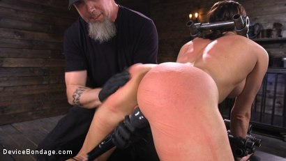 Photo number 18 from Ariel X: Body Builder Double Penetrated in Diabolical Devices shot for Device Bondage on Kink.com. Featuring Ariel X in hardcore BDSM & Fetish porn.