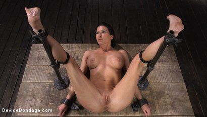 Photo number 19 from Ariel X: Body Builder Double Penetrated in Diabolical Devices shot for Device Bondage on Kink.com. Featuring Ariel X in hardcore BDSM & Fetish porn.