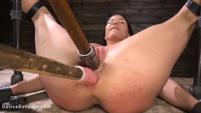 Photo number 21 from Ariel X: Body Builder Double Penetrated in Diabolical Devices shot for Device Bondage on Kink.com. Featuring Ariel X in hardcore BDSM & Fetish porn.