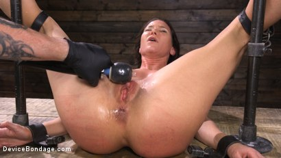 Photo number 25 from Ariel X: Body Builder Double Penetrated in Diabolical Devices shot for Device Bondage on Kink.com. Featuring Ariel X in hardcore BDSM & Fetish porn.