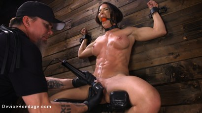 Photo number 28 from Ariel X: Body Builder Double Penetrated in Diabolical Devices shot for Device Bondage on Kink.com. Featuring Ariel X in hardcore BDSM & Fetish porn.