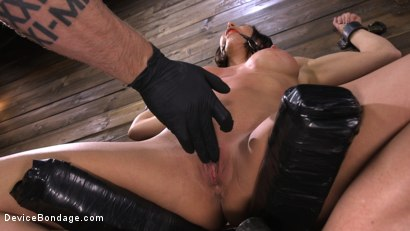 Photo number 3 from Ariel X: Body Builder Double Penetrated in Diabolical Devices shot for Device Bondage on Kink.com. Featuring Ariel X in hardcore BDSM & Fetish porn.