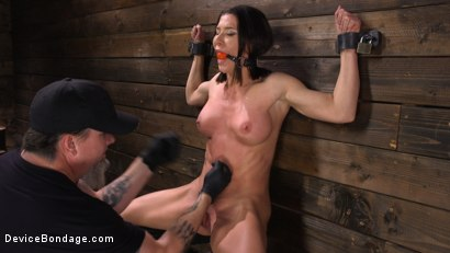 Photo number 4 from Ariel X: Body Builder Double Penetrated in Diabolical Devices shot for Device Bondage on Kink.com. Featuring Ariel X in hardcore BDSM & Fetish porn.