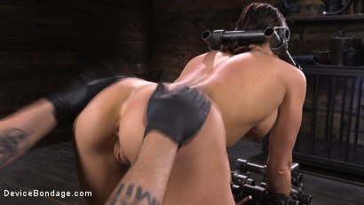 Photo number 8 from Ariel X: Body Builder Double Penetrated in Diabolical Devices shot for Device Bondage on Kink.com. Featuring Ariel X in hardcore BDSM & Fetish porn.