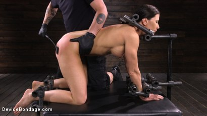 Photo number 9 from Ariel X: Body Builder Double Penetrated in Diabolical Devices shot for Device Bondage on Kink.com. Featuring Ariel X in hardcore BDSM & Fetish porn.