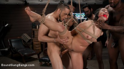 Photo number 8 from Gang Bang Pawn Shop: Isabella Nice Pays off Debt with All Her Holes shot for Bound Gang Bangs on Kink.com. Featuring John Johnson, Tommy Pistol, Ramon Nomar, Eddie Jaye, Donny Sins and Isabella Nice in hardcore BDSM & Fetish porn.
