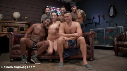 Photo number 16 from Gang Bang Pawn Shop: Isabella Nice Pays off Debt with All Her Holes shot for Bound Gang Bangs on Kink.com. Featuring John Johnson, Tommy Pistol, Ramon Nomar, Eddie Jaye, Donny Sins and Isabella Nice in hardcore BDSM & Fetish porn.