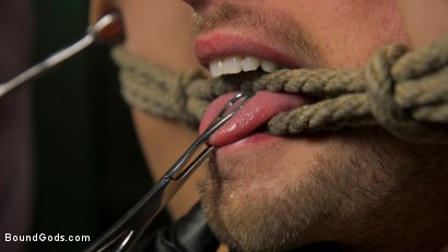Photo number 10 from I Dream of Leather: Damon Heart Submits to Leather God Michael Roman shot for Bound Gods on Kink.com. Featuring Michael Roman and Damon Heart in hardcore BDSM & Fetish porn.