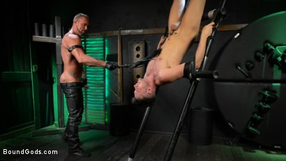 Photo number 11 from I Dream of Leather: Damon Heart Submits to Leather God Michael Roman shot for Bound Gods on Kink.com. Featuring Michael Roman and Damon Heart in hardcore BDSM & Fetish porn.
