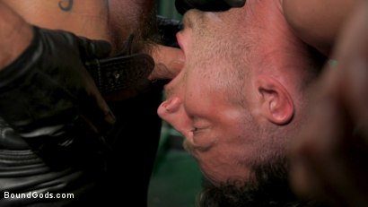 Photo number 14 from I Dream of Leather: Damon Heart Submits to Leather God Michael Roman shot for Bound Gods on Kink.com. Featuring Michael Roman and Damon Heart in hardcore BDSM & Fetish porn.