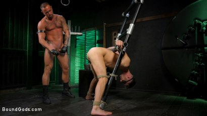 Photo number 16 from I Dream of Leather: Damon Heart Submits to Leather God Michael Roman shot for Bound Gods on Kink.com. Featuring Michael Roman and Damon Heart in hardcore BDSM & Fetish porn.