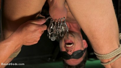 Photo number 19 from I Dream of Leather: Damon Heart Submits to Leather God Michael Roman shot for Bound Gods on Kink.com. Featuring Michael Roman and Damon Heart in hardcore BDSM & Fetish porn.