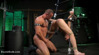 Photo number 20 from I Dream of Leather: Damon Heart Submits to Leather God Michael Roman shot for Bound Gods on Kink.com. Featuring Michael Roman and Damon Heart in hardcore BDSM & Fetish porn.