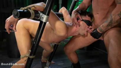 Photo number 25 from I Dream of Leather: Damon Heart Submits to Leather God Michael Roman shot for Bound Gods on Kink.com. Featuring Michael Roman and Damon Heart in hardcore BDSM & Fetish porn.