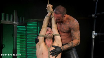 Photo number 3 from I Dream of Leather: Damon Heart Submits to Leather God Michael Roman shot for Bound Gods on Kink.com. Featuring Michael Roman and Damon Heart in hardcore BDSM & Fetish porn.