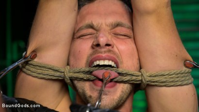 Photo number 6 from I Dream of Leather: Damon Heart Submits to Leather God Michael Roman shot for Bound Gods on Kink.com. Featuring Michael Roman and Damon Heart in hardcore BDSM & Fetish porn.